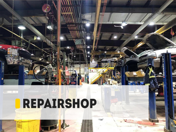 【Project】240W OH High Bay Auto-Mobile Repairshop Installation